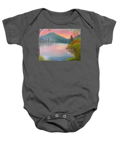 Sunset Lake Baby Onesie