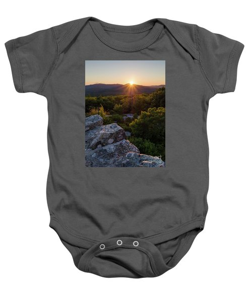 Sunset, Mt. Battie, Camden, Maine 33788-33791 Baby Onesie