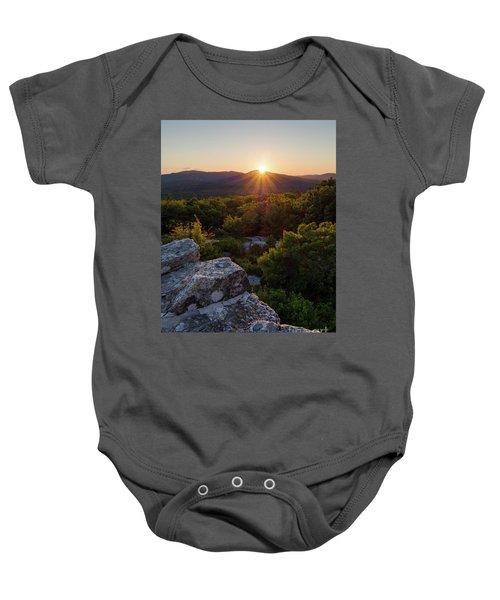 Sunset, Mt. Battie, Camden, Maine 33788-33791 Baby Onesie