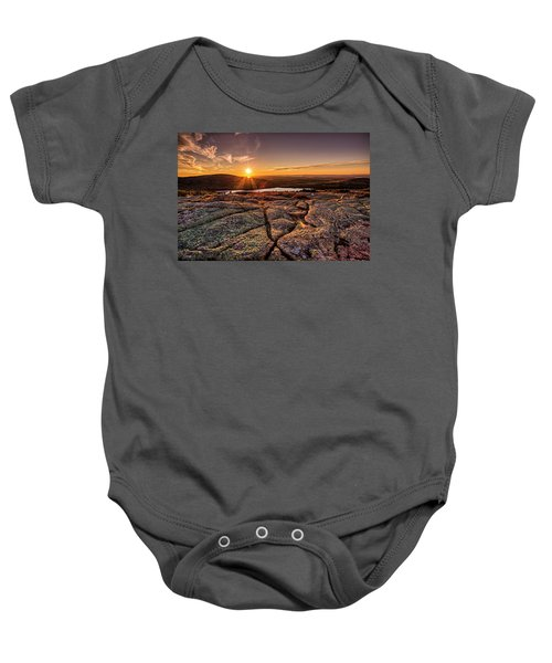 Sunset On Cadillac Mountain Baby Onesie