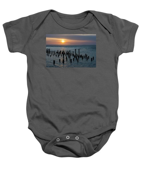 Sunset On The Empire Baby Onesie