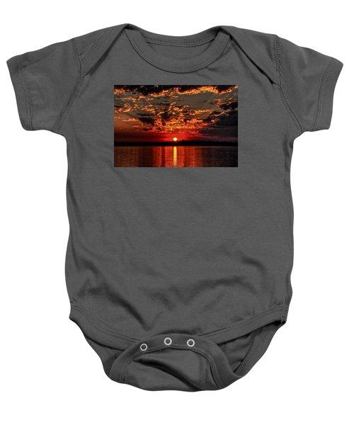 Sunset On The Zambezi Baby Onesie