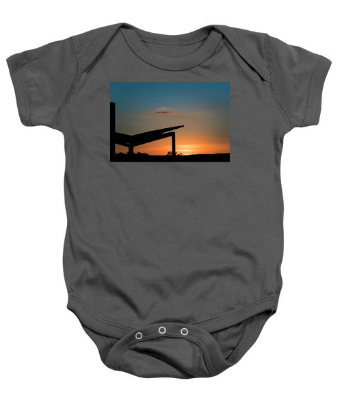 Sunset Over Austin City Limits Festival Week One 2017 Baby Onesie