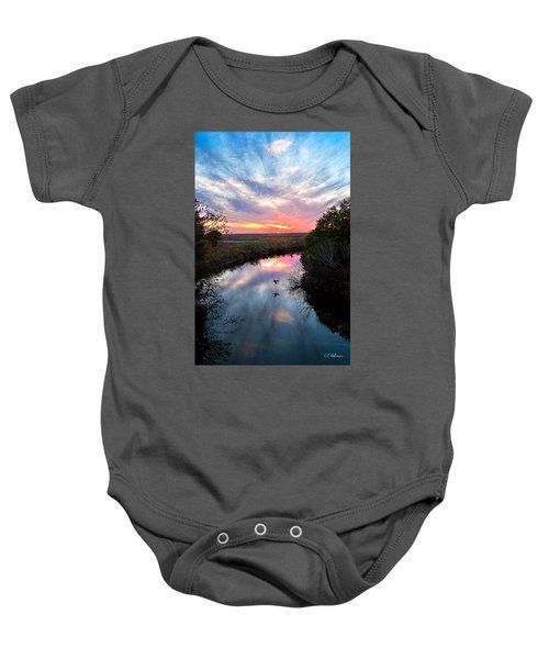 Sunset Over The Marsh Baby Onesie