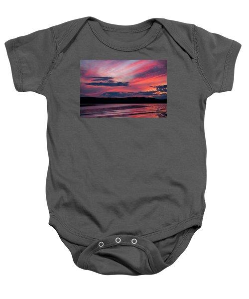 Sunset Red Lake Baby Onesie