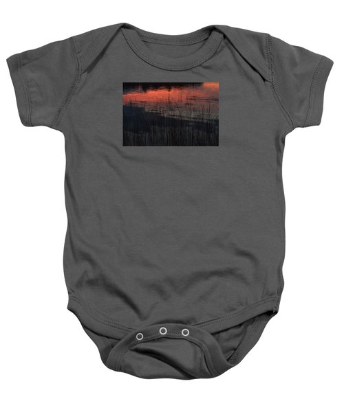 Sunset Reeds Baby Onesie by Gary Eason