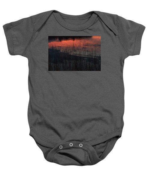 Sunset Reeds Baby Onesie
