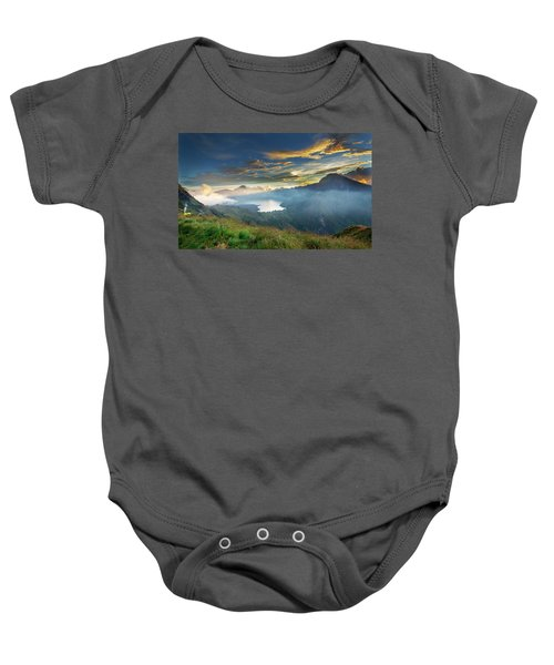 Sunset View From Mt Rinjani Crater Baby Onesie