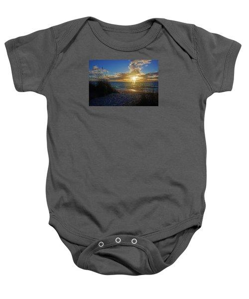 Sunset Windsurfer Baby Onesie