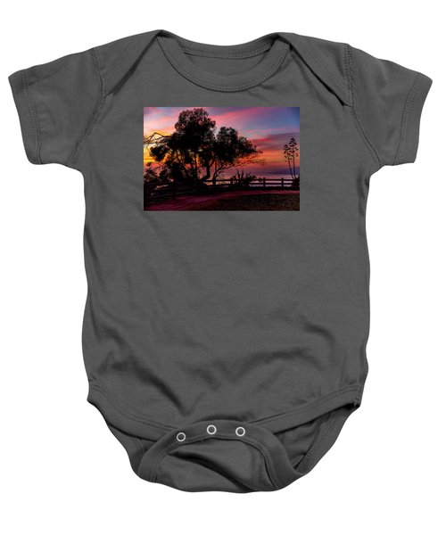 Sunset Silhouettes From Palisades Park Baby Onesie