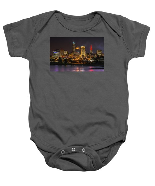 Super Moon 2016 Over Cleveland Baby Onesie