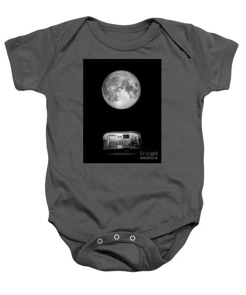 Super Moon Airstream 3 4 Baby Onesie