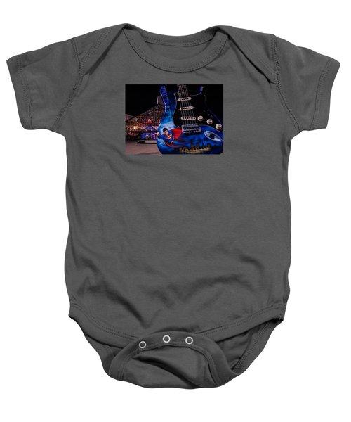 Superman Rocks Baby Onesie
