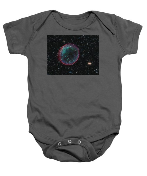 Supernova Bubble Resembles Holiday Ornament Baby Onesie