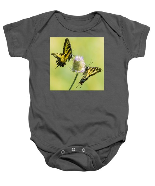 Swallowtails On Thistle  Baby Onesie