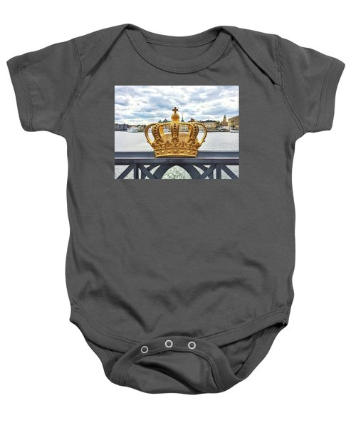 Swedish Royal Crown On A Bridge In Stockholm Baby Onesie