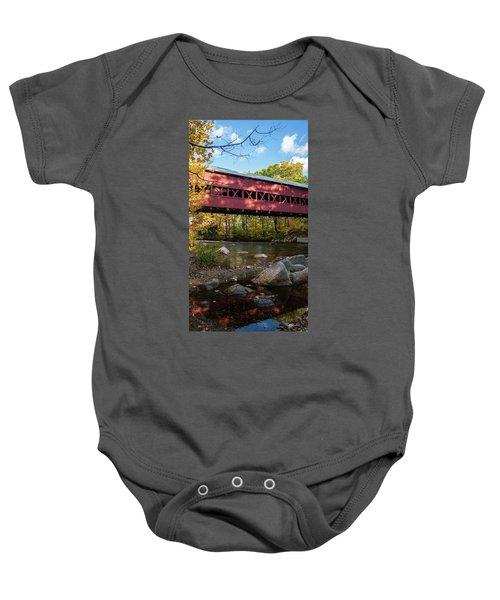Swift River Covered Bridge Baby Onesie