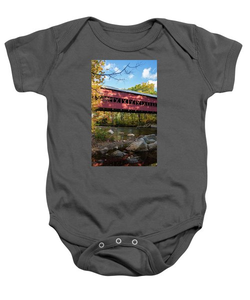 Swift River Covered Bridge Baby Onesie