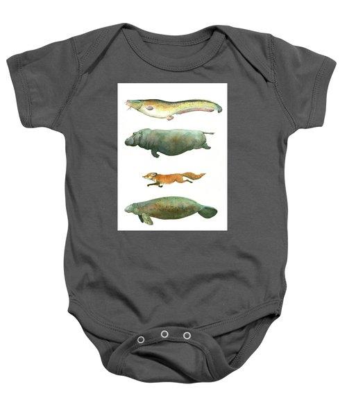 Swimming Animals Baby Onesie