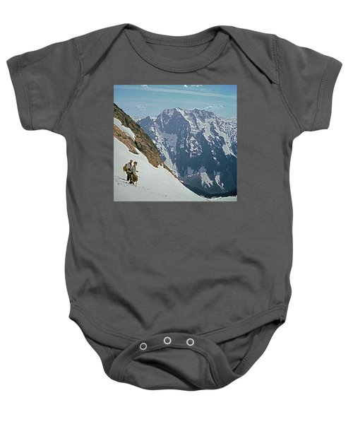 T-04402 Fred Beckey And Joe Hieb After First Ascent Forbidden Peak Baby Onesie