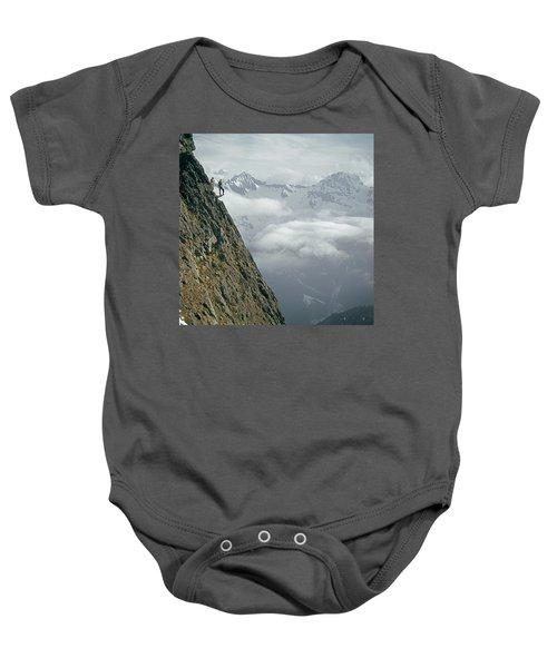 T-404101 Climbers On Sleese Mountain Baby Onesie