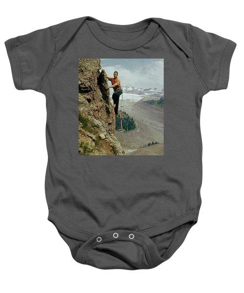 T-902901 Fred Beckey Climbing Baby Onesie