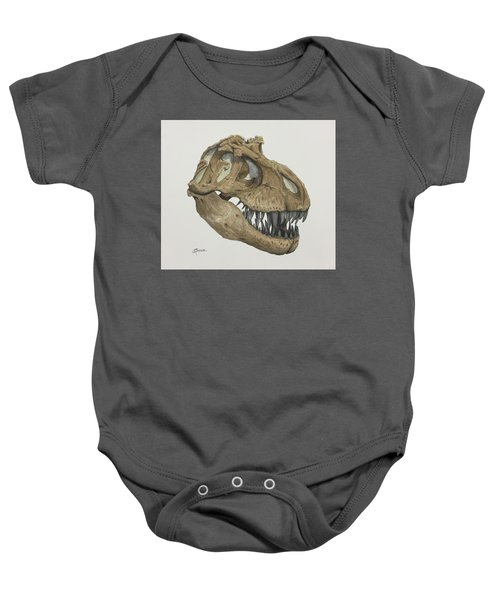 T. Rex Skull 2 Baby Onesie