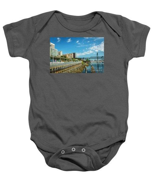 Tacoma And 11th Street Bridge Baby Onesie