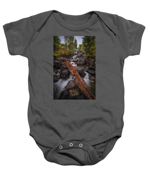 Taggert Creek Waterfall Log Baby Onesie