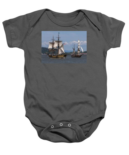 Tall Ships Square Off Baby Onesie