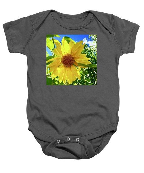 Tangled Sunflower Baby Onesie