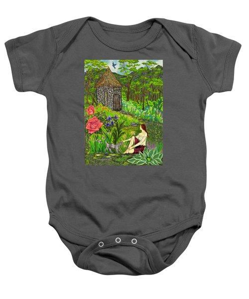 Tansel's Garden Baby Onesie