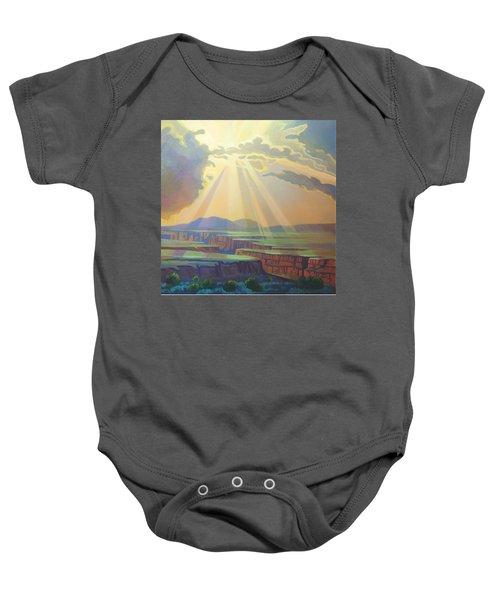 Taos Gorge God Rays Baby Onesie