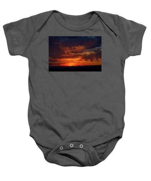 Taos Virga Sunset Baby Onesie