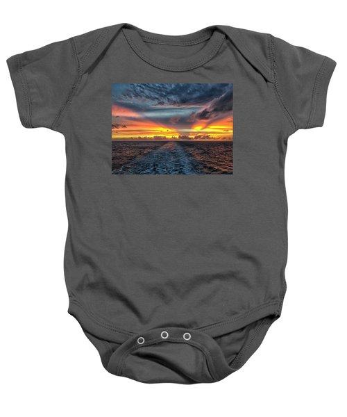 Tasman Sea Sunset Baby Onesie