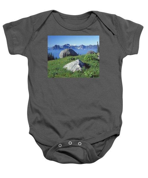 1m4862-tatoosh Range And Mt. St. Helens  Baby Onesie