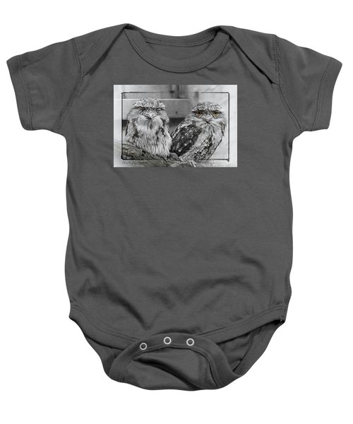 Tawney Frogmouths Baby Onesie