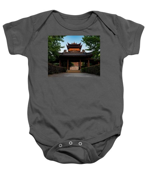 Tea House In The Morning I Baby Onesie
