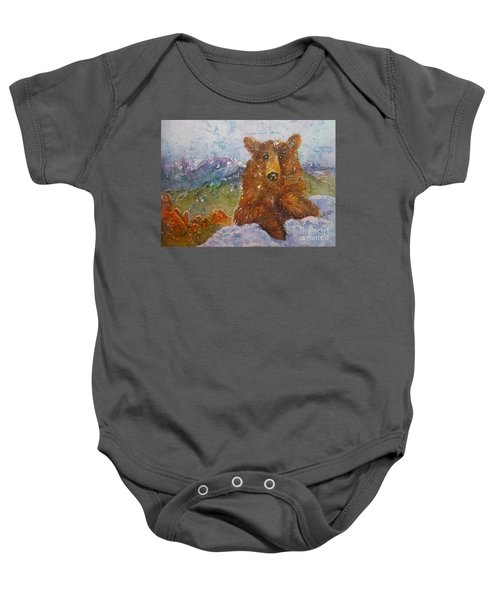 Teddy Wakes Up In The Most Desireable City In The Nation Baby Onesie