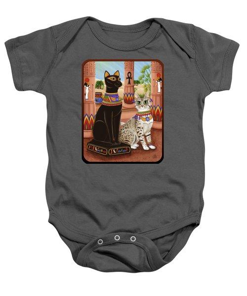 Temple Of Bastet - Bast Goddess Cat Baby Onesie