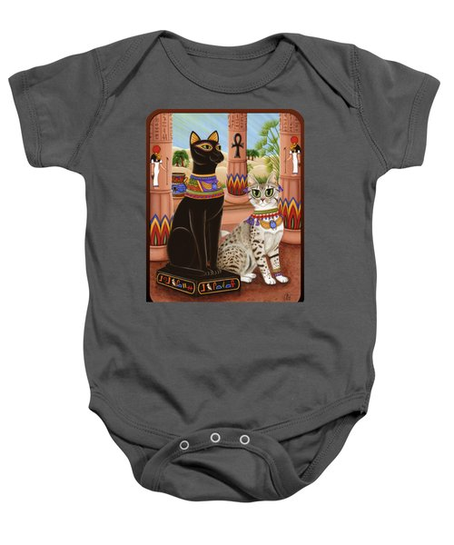 Temple Of Bastet - Bast Goddess Cat Baby Onesie