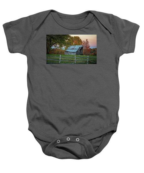 Tennessee Barn Baby Onesie