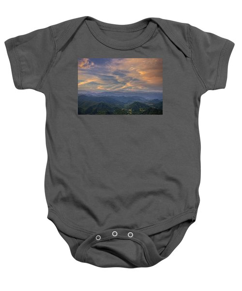 Tennessee Mountains Sunset Baby Onesie