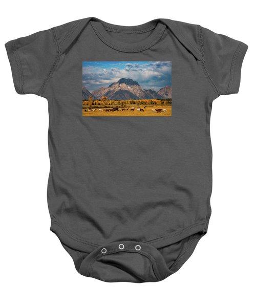 Teton Horse Ranch Baby Onesie