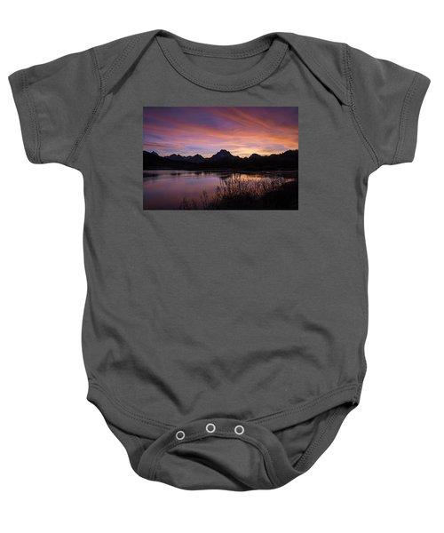 Teton Sunset Baby Onesie