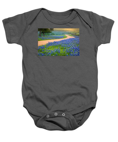 Texas Country Road Baby Onesie