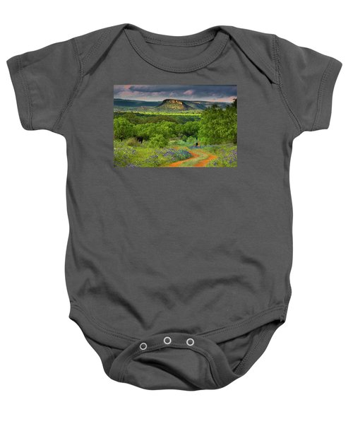 Texas Hill Country Ranch Road Baby Onesie