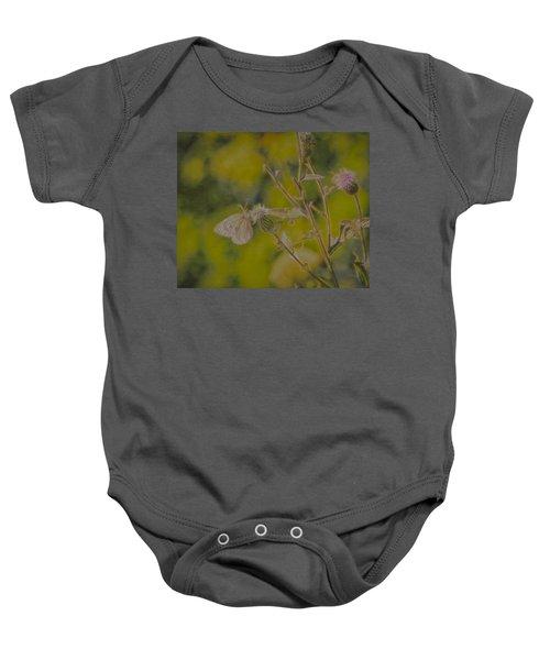 Textured Butterfly 1   Baby Onesie