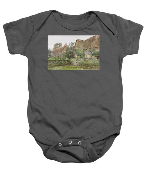 Thatched Cottages And Cottage Gardens Baby Onesie