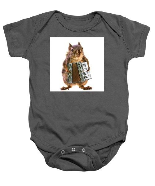 The Accordion Player Baby Onesie